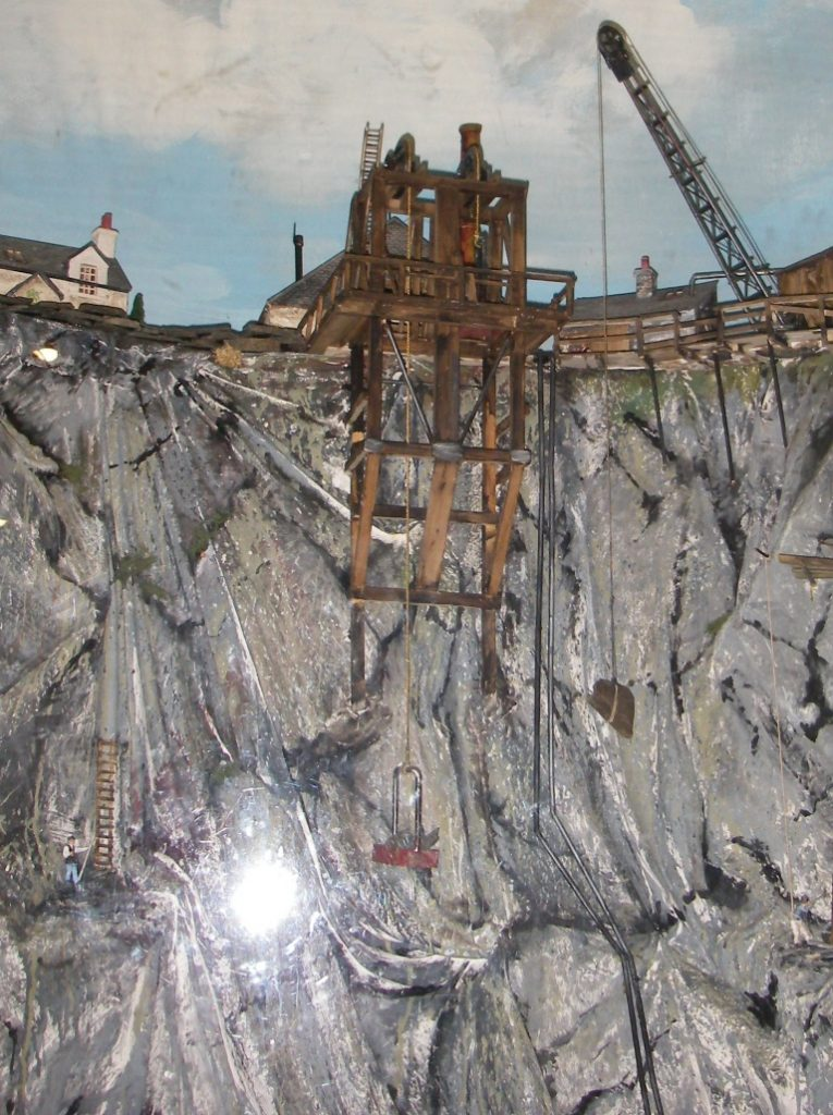 Diorama showing slate quarrying in Ellenabeich